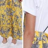 Таким образом женщины Sexy тонкий V-образный вырез стороны горлом шифон печатной стороной скольжения платья