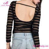 Классика одно женское бельё длинней втулки части Striped черное