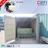 Macchina del ghiaccio in pani della salamoia di industria con capienza quotidiana di tonnellate di 1 tonnellata To100