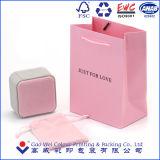 El bolso de empaquetado de papel de encargo, bolsos del regalo, hace la bolsa de papel a mano con la impresión de la insignia