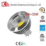 MR16穂軸7W 6W 5W LEDのスポットライトGU10 Plastic+Aluminumハウジング
