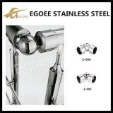 304/201 codo inoxidable de la barandilla del tubo de acero para adorna