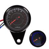 カウンター0-13000 Rpm黒いLEDのバックライトのオートバイのメートルの回転速度計