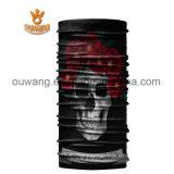 Schwarzes Schädel-Gesichts-Gefäß-Schablonen-Stutzen-Gamaschen-Staub-Schildnahtloser Bandana