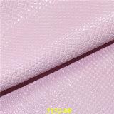 Sintéticos más de moda de cuero de PU para sacos de grano con Snake