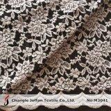 Tela do laço do algodão do estiramento com Scallop (M3041)