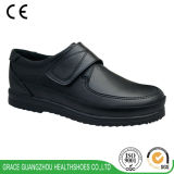 남녀 공통 가죽 신발 Comfortble 단화 검정 정형외과용 특수 신발