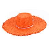 Mujeres Big Brim Summer Beach Sombrero de paja