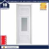 Laminado de PVC composto folheadas a madeira maciça Porta de vidro branca