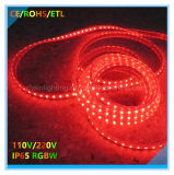 Indicatore luminoso di striscia elencato di RoHS 220V IP65 LED del Ce con SMD5050