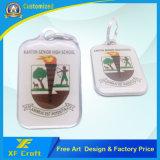 Preço de fábrica personalizado Silk-Screen Both Side Metal Key Ring for Promotion (XF-KC15)