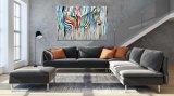 現代多彩なRaibowのシマウマの壁の芸術の絵画