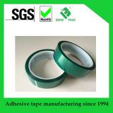Cinta adhesiva del poliester del verde de la película del animal doméstico del silicón de alta temperatura