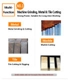 Amoladora angular para el granito / mármol / piedra arenisca / Concret (KD62)