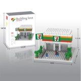 Kit 14889316-Micro Bloque temático restaurante Serie módulos previstos educativo creativo de bricolaje juguete 280pcs
