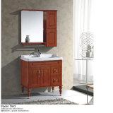 Fußboden - eingehangen mit Spiegel und keramischem Bassin-Schrank
