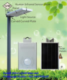 Solar12w Straße der Batterie-LiFePO4 alle in einem Wand-Licht