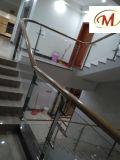 Moderne Art-Spitzenentwurfs-Hotel-Landhaus-Edelstahl-Treppenhaus-Spalte