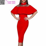New Fashion Senhoras Bodycon vestido MIDI L36170