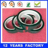 Cinta adhesiva del silicón verde de alta temperatura del poliester del animal doméstico de la cinta adhesiva del aislante termal,