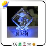 Decorações de mesa de gravura em cristal