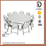 Banquet de l'utilisation générale en matière plastique Table ronde de demi-lune de pliage