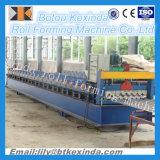 780 Deck duplo de telhado de metal corrugado máquina de formação de rolos