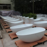 Rode Glanzende Artificial Marble Stone SPA Badkuip