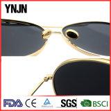 Lunettes de soleil pilotes surdimensionnées de la Chine de Mens de lentilles de miroir de Ynjn (YJ-F35316)
