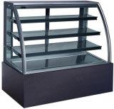 Vidro Curvo grande frigorífico Padaria Bolo Comercial Showcase (KT740A-M2)