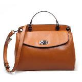 Borsa di modo della spalla di Crossbody del sacchetto del messaggero del cuoio genuino delle donne
