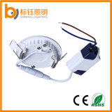 Panneau de plafond ultra-mince rond de coulage sous pression de l'éclairage 3W d'Aluminum+Acrylic Boby AC85-265V 90lm/W
