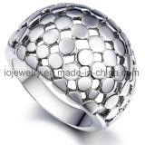 Joyería de acero vendedora caliente del bebé de la huella del anillo de los EEUU