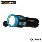 Hoozhu V13のクリー族LED 5カラーダイビングのビデオライト