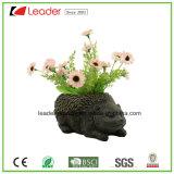 Hot-Sale resina Raccoon estatua flor de la casa y el jardín de decoración