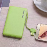4000mAh Candy Color USB Power Bank com cabos carregador USB