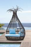 ボンゴの屋外の家具の藤の寝台兼用の長椅子
