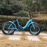 """2017 20 """" 48V 500Wの脂肪質のタイヤの電気バイクを折るebike"""