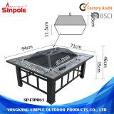 Portable al aire libre 2 en 1 multi-función Grill Fuego Tabla Pit
