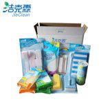 Il pacchetto del contenitore di regalo dei prodotti di pulizia di marca di Jieclean imposta la spazzola di pulizia