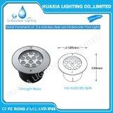 IP68 calientan la luz subacuática ahuecada LED decorativa blanca de la lámpara de 27W 36W