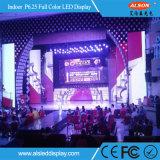 P6.25 scheda di schermo dell'interno di colore completo LED per gli eventi della fase
