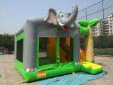 Gorila de salto del elefante divertido inflable de los cabritos con la diapositiva para la venta