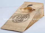 Embalagem de selagem de 4 lados Sacola de papel de café Snack Food