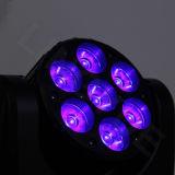 DJ 단계 7PCS 12W RGBW 이동하는 헤드 LED 광속 빛