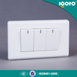 Igoto America Standard 3 Gang 1 Way Switch with Neon Light 3 Gang 2 Way Switches with Neon Light