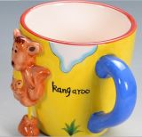 3D Animal Cartoon Shape Ceramic 210-300ml Caneca de café