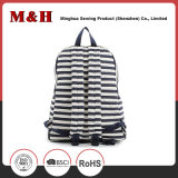 Preto e branco Stripes Travel Leisure Backpack