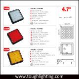 """4.7 """" indicatori luminosi posteriori ambrati rossi della coda del rimorchio del caravan LED del rimorchio del camion approvati E-MARK del segnale di girata di bianco LED arrestano l'indicatore luminoso di indicatore posteriore della coda"""