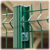 Acier galvanisé et enduit de PVC clôture en treillis métallique soudé